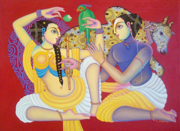 K Sukumar 30 x 40 inches Acrylic in canvas