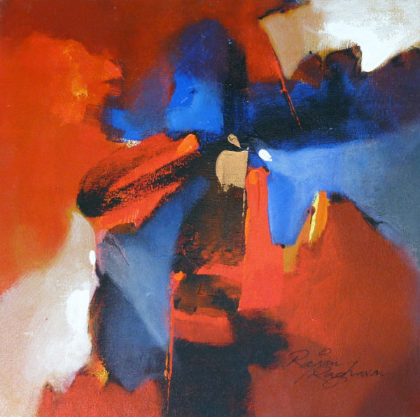 R Raghavan 12 x 12 inches Acrylic on canvas 3