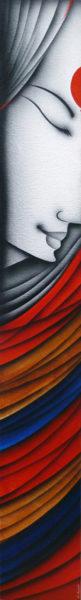 K Prakash 46 x 6 inches Acrylic on canvas 1