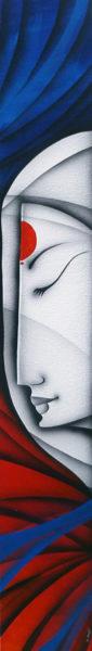K Prakash 46 x 6 inches Acrylic on canvas 4