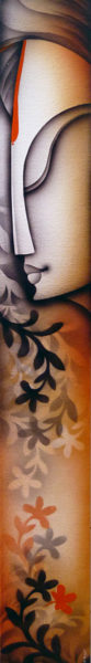 K Prakash 46 x 6 inches Acrylic on canvas 8